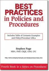writing policy and procedure manuals template